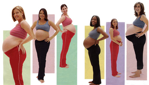 Pregnant Women come in all shapes & sizes!